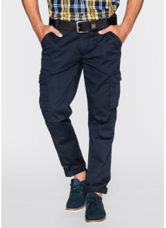 Pantalone cargo regular fit straight, bpc bonprix collection, Blu scuro