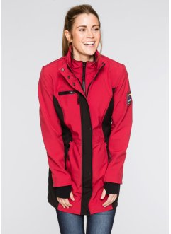 Giacca in softshell 2 in 1, bpc bonprix collection, Rosso scuro