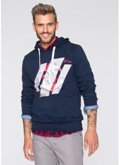 Felpa slim fit, RAINBOW, Blu scuro