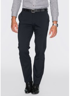 Pantalone in misto lana regular fit, bpc selection, Blu scuro