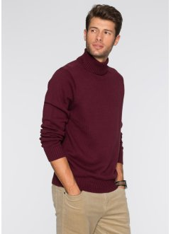 Pullover dolcevita regular fit, bpc bonprix collection, Rosso acero