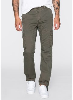 Pantalone cargo loose fit tapered, RAINBOW, Verde oliva scuro