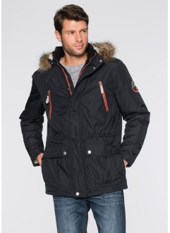 Parka imbottito regular fit, bpc bonprix collection, Nero