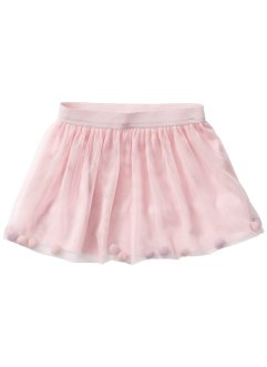 Gonna in tulle con palline, bpc bonprix collection, Rosa tenero con palline colorate