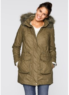 Parka rivestito 2 in 1, bpc bonprix collection, Verde scuro
