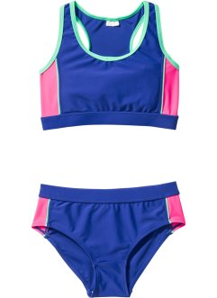 Bikini con bustier, bpc bonprix collection, Blu / rosa