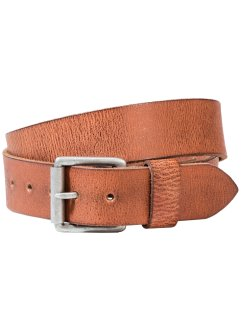 Cintura in pelle, bpc bonprix collection, Cognac