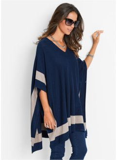Poncho, bpc selection, Blu scuro / pietra