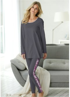 Pigiama con leggings, bpc selection, Grigio fantasia