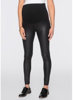Leggings prémaman in similpelle, bpc bonprix collection, Nero