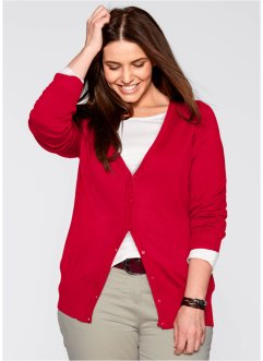 Cardigan, bpc bonprix collection, Rosso scuro