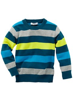 Pullover, bpc bonprix collection, Petrolio a righe