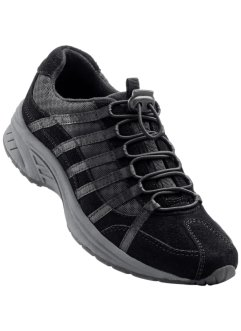 Scarpa da trekking in pelle, bpc bonprix collection, Nero