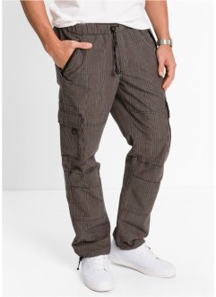 Pantalone cargo loose fit straight, bpc bonprix collection, A quadri