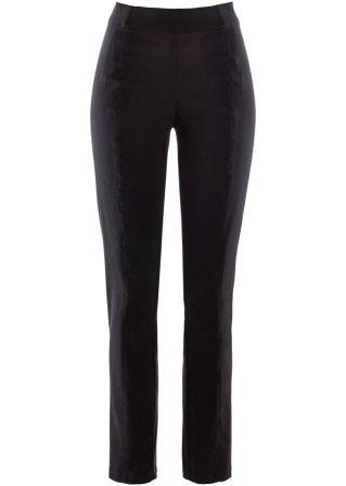Pantaloni cropped con elastico in vita slim fit