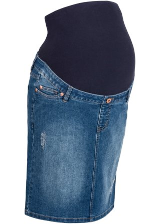 Gonna di jeans prémaman ultra elasticizzata