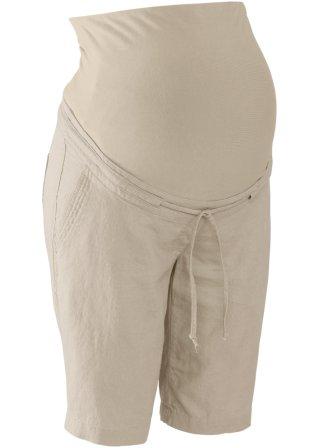 Massive Pantaloncino prémaman in misto lino