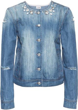 Giacca di jeans con pietre