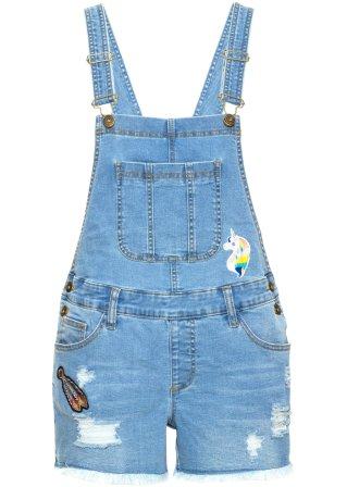 Salopette di jeans corta