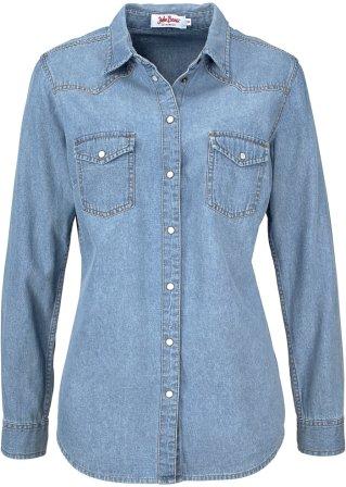 Camicia in jeans a maniche lunghe