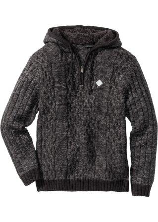 100 % genuino Pullover con cappuccio slim fit
