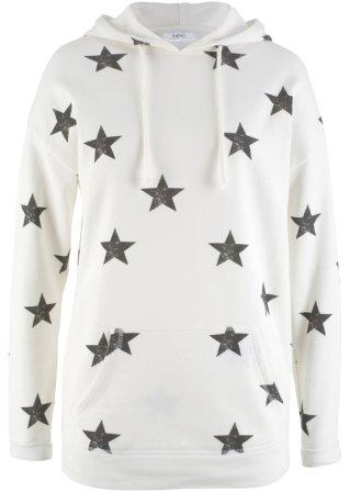 Felpa a stelle con cappuccio