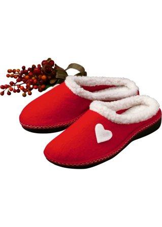 Donna Scarpe Ciabatte Cuore rosso