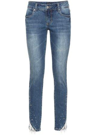 Jeans elasticizzato con pizzo