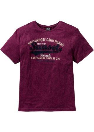 T-shirt con stampa e applicazione