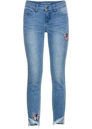 Acquista online Jeans skinny corto con applicazioni