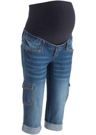 Jeans capri prémaman stile cargo