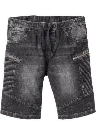 Bermuda di jeans con elastico regular fit