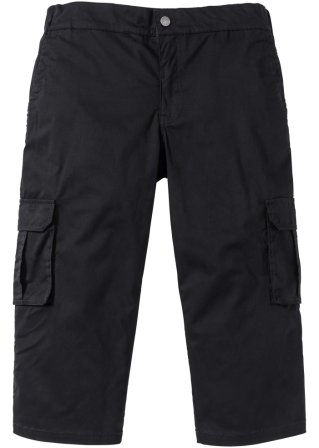 Pantalone elasticizzato cargo 3/4 con cinta elastica
