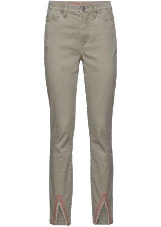 Pantalone in twill con ricami