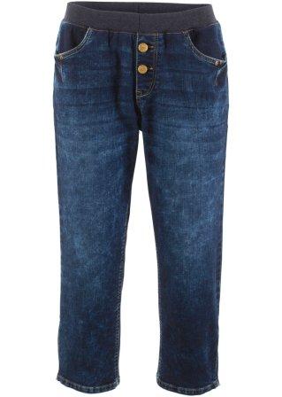 Pinocchietto di jeans elasticizzato boyfriend con cinta a costine