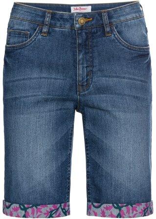 Bermuda di jeans elasticizzato Authentic con risvolto colorato