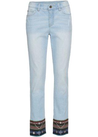 Jeans relaxed con bordura al fondo