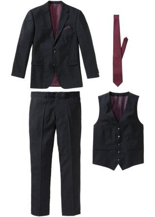 Completo (4 pezzi) giacca, pantaloni, gilet, cravatta