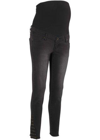 Jeans prémaman skinny con borchie