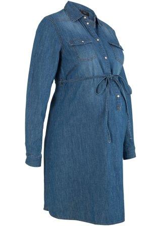 Brillante Abito di jeans in cotone prémaman e per l'allattamento