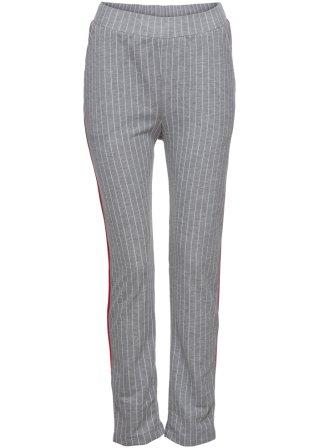 Pantalone con pinces e bande a contrasto