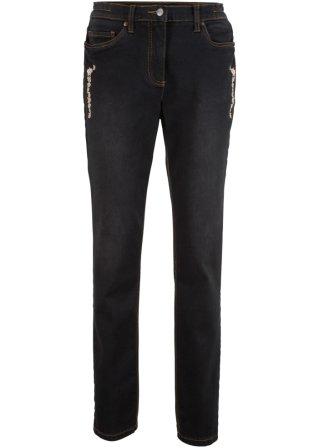 Prezzo Conveniente Jeans elasticizzato con ricamo