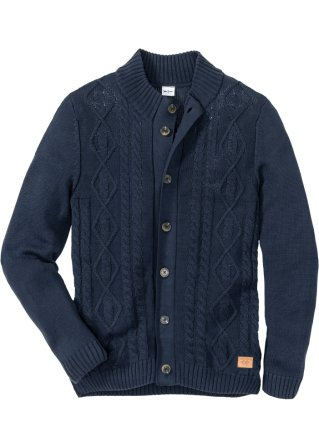 Cardigan a trecce regular fit