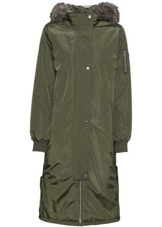 Cappotto con cappuccio e bottoni a pressione ai lati