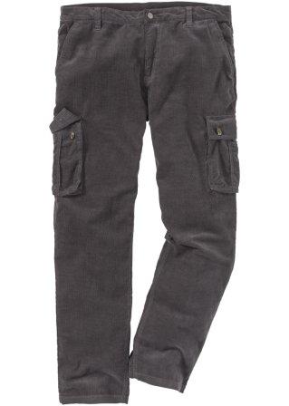 Pantalone cargo in velluto regular fit