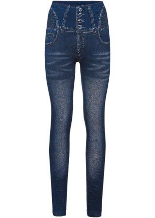 Leggings effetto jeans, modellante senza cuciture