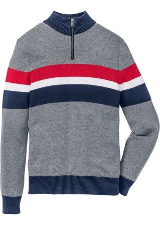 Nuovo stile Pullover con cerniera regular fit