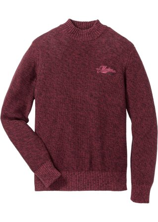 Pullover a collo alto con cerniera regular fit
