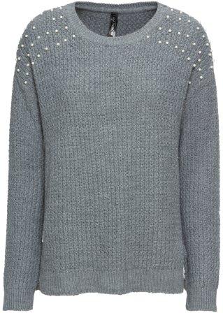 nuovo stile Pullover con perle