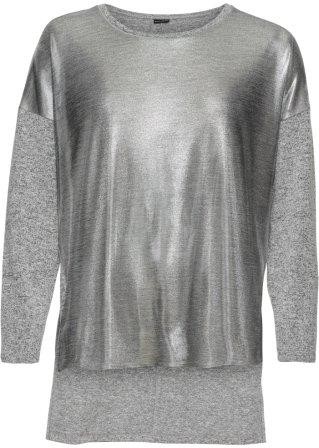 Prezzo completo Maglia oversize in jersey con davanti metallizzato